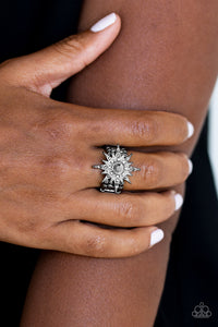 Paparazzi Accessories Super Stellar - Black Ring - Be Adored Jewelry