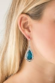 Paparazzi Accessories Superstar Stardom - Blue Earring - Be Adored Jewelry