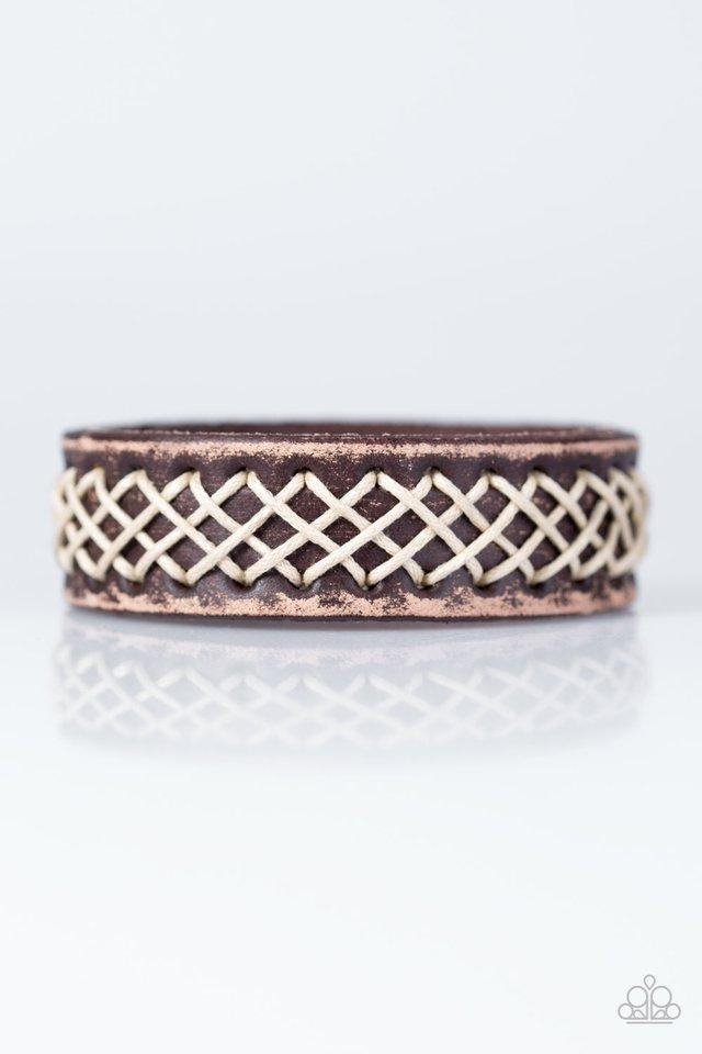 Paparazzi Accessories SURFS You Right - Brown Leather Urban Bracelet - Be Adored Jewelry