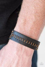 Load image into Gallery viewer, Paparazzi Accessories Take One For The Team - Brown Stitched Urban Bracelet - Be Adored Jewelry