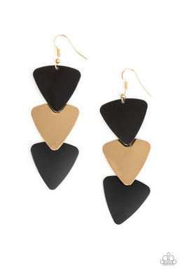 Paparazzi Accessories Terra Trek- Black Earring - Be Adored Jewelry
