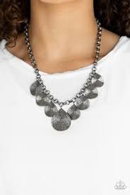 Texture Storm - Paparazzi Black Necklace - Be Adored Jewelry