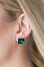 Load image into Gallery viewer, Paparazzi Accessories The Big Bang - Green Post Earring - Be Adored Jewelry