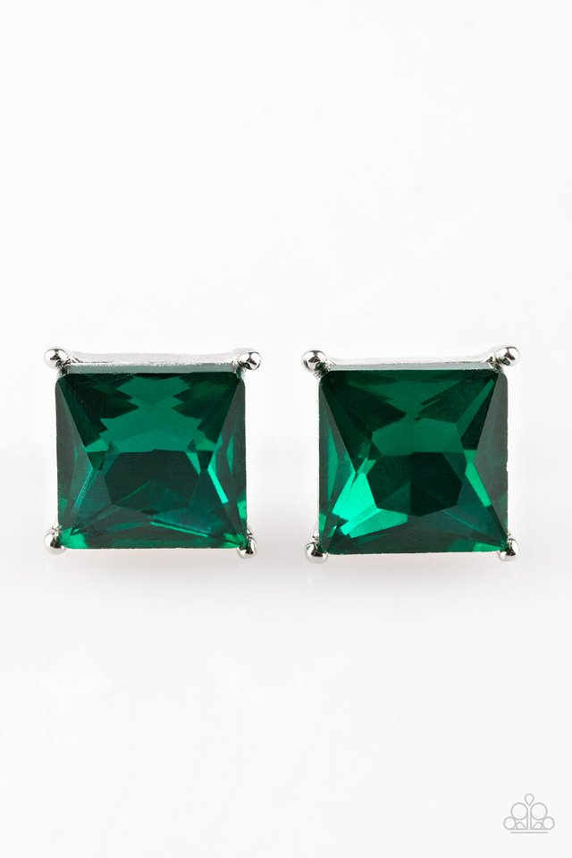 Paparazzi Accessories The Big Bang - Green Post Earring - Be Adored Jewelry