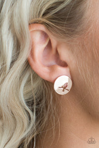 Paparazzi Accessories The Bird Has Flown - Rose Gold Post Earring - Be Adored Jewelry