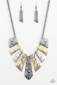 Be Adored Jewelry Texture Tigress Paparazzi Multi Necklace