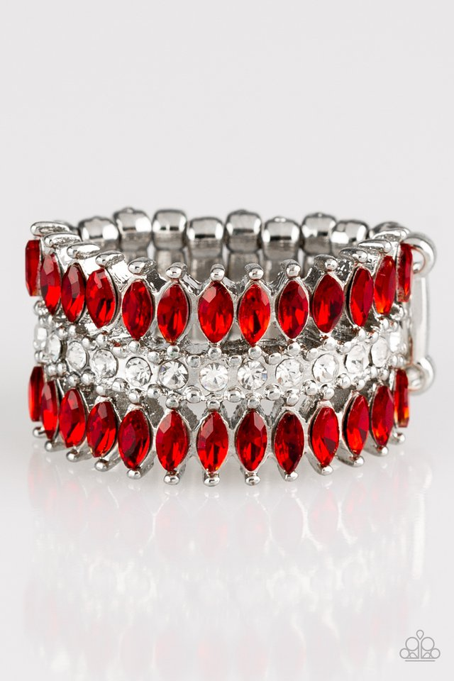 Paparazzi Accessories Treasury Fund - Red Ring - Be Adored Jewelry