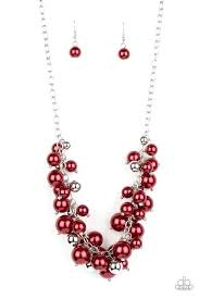Be Adored Jewelry Uptown Upgrade Red Paparazzi Necklace