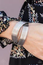 Load image into Gallery viewer, Paparazzi Accessories Urban Glam - Silver Cuff Bracelet - Be Adored Jewelry