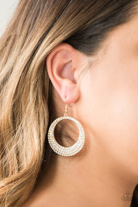 Paparazzi Accessories Very Victorious - Gold Earring - Be Adored Jewelry