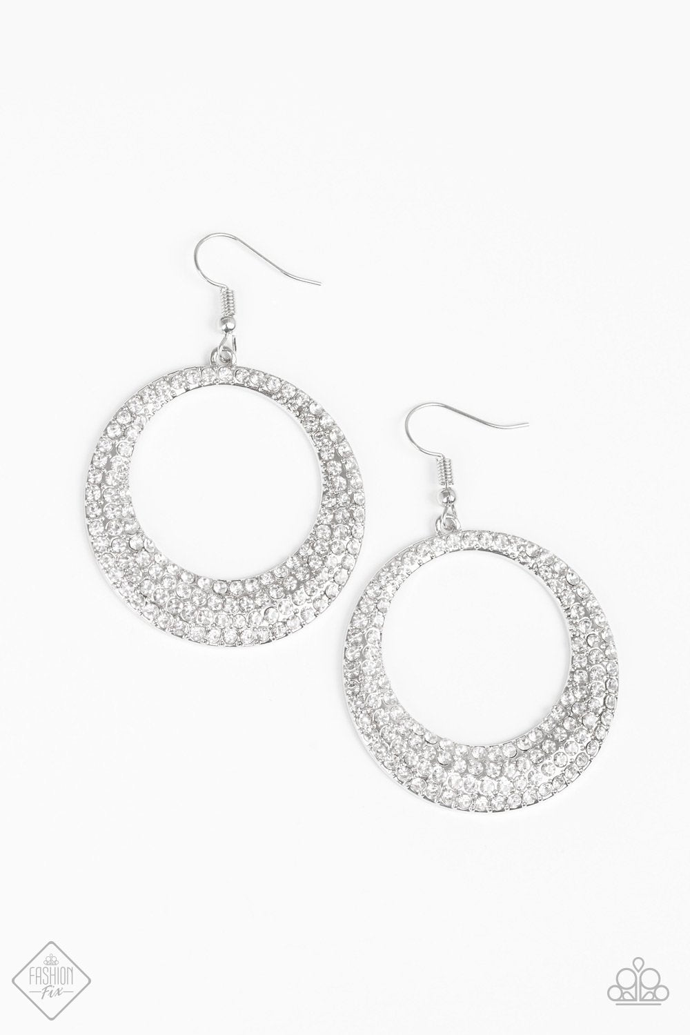Paparazzi Accessories Very Victorious - White Earring - Be Adored Jewelry