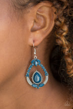 Load image into Gallery viewer, Paparazzi Accessories Vogue Voyager - Blue Earring - Be Adored Jewelry