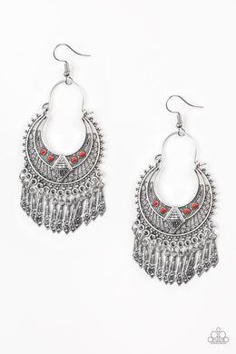 Paparazzi Accessories Walk On The Wildside - Red Earring - Be Adored Jewelry