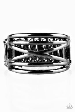 Paparazzi Way Wayward - Black Ring - Be Adored Jewelry