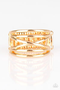 Paparazzi Way Wayward - Gold Ring - Be Adored Jewelry