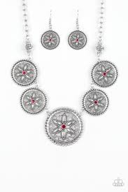 Written In The STAR LILIES - Paparazzi Red Necklace - Be Adored Jewelry