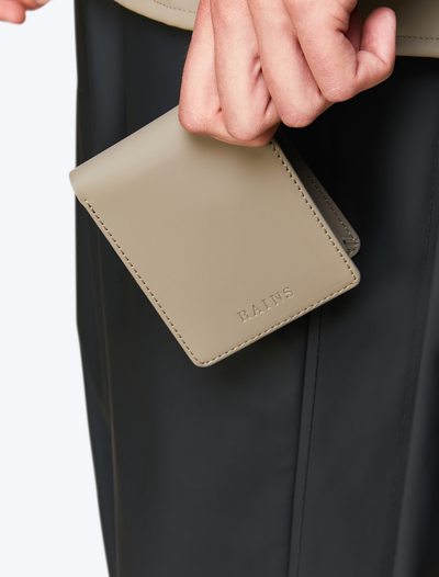 rains • folded wallet • taupe