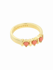 wildthings collectables • vintage peach ring gold