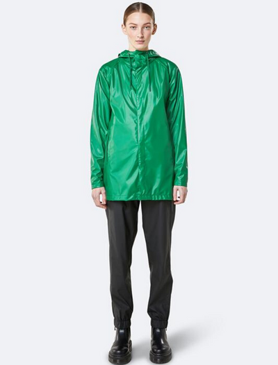rains • short coat • shiny green