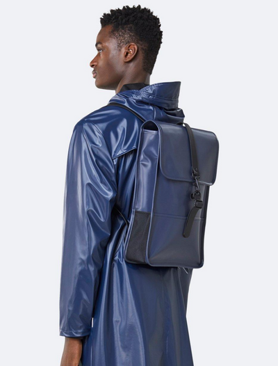 rains • backpack mini • shiny blue