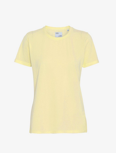 colorful standard • t-shirt • soft yellow