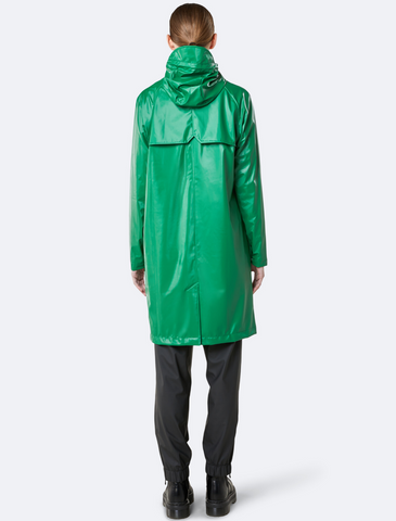 rains • coat • shiny green