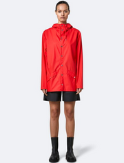 rains • jacket • red