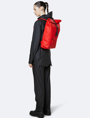 rains • backpack rolltop • red