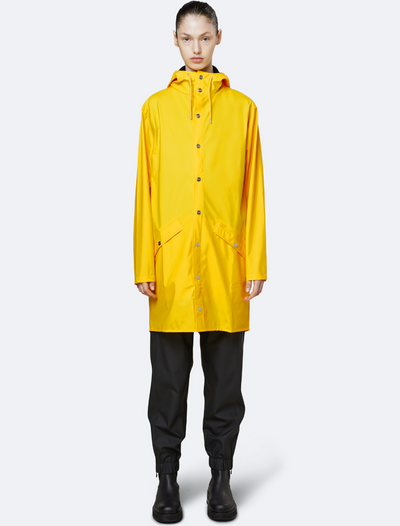rains • long jacket • yellow