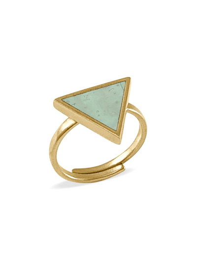 kaalee • ring dreieck • mint