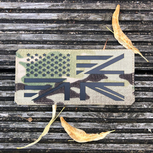 UK/US PLATE CARRIER FLAG LASER CUT