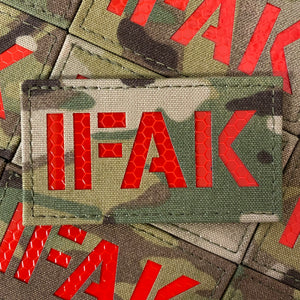 IFAK MULTICAM w/ RED REFLECTIVE 90x50