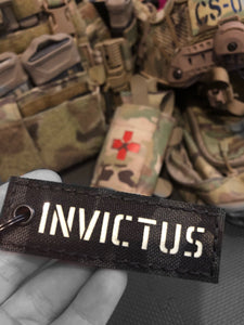 Invictus MK1 Laser Cut Keyring MC Black