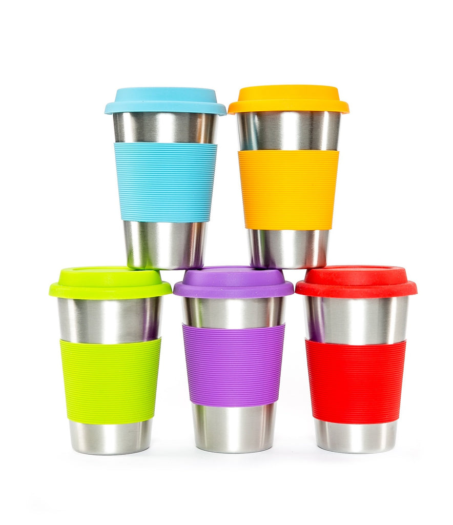 Stainless Steel and Silicone Cups