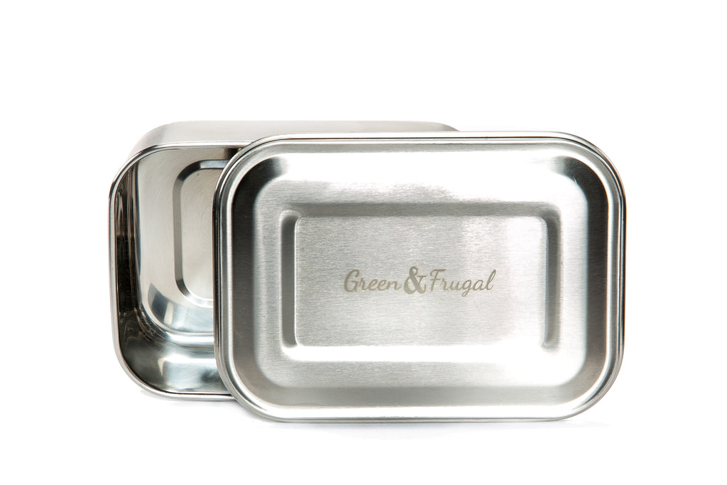 Stainless Steel, Rectangular Lunch Box