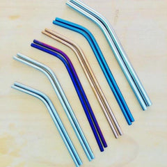 Straws, Stainless Steel Silver
