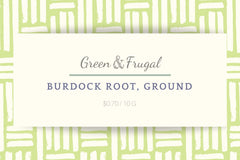 Burdock Root, Ground