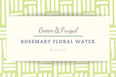 Rosemary Floral Water
