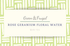 Rose Geranium Floral Water