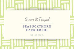 Seabuckthorn Carrier Oil