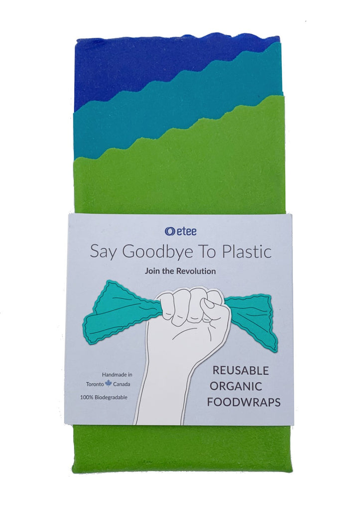 Reusable Organic Foodwraps (3 Pack), etee