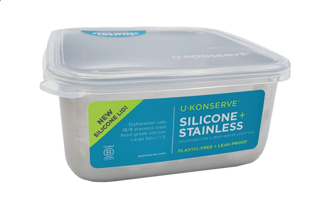 Stainless Steel + Silicone Lunch Containers, U-KONSERVE