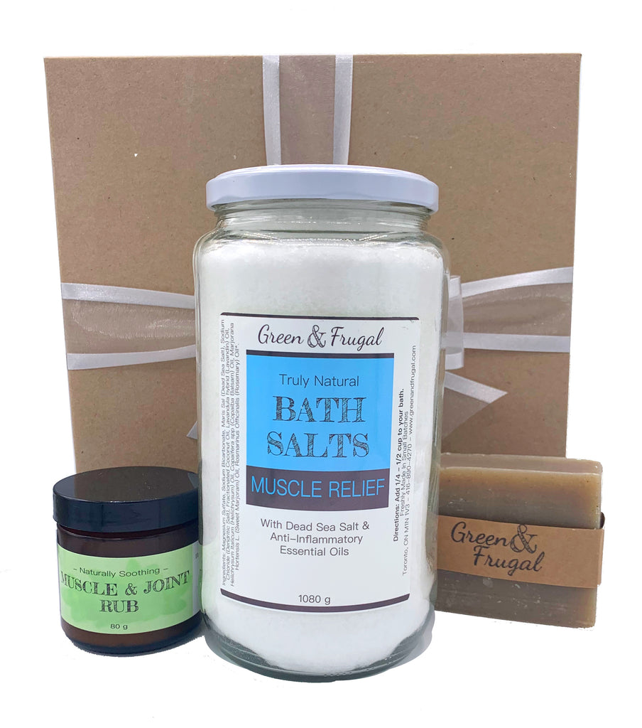 Muscle Relief Gift Set with Soap Bar