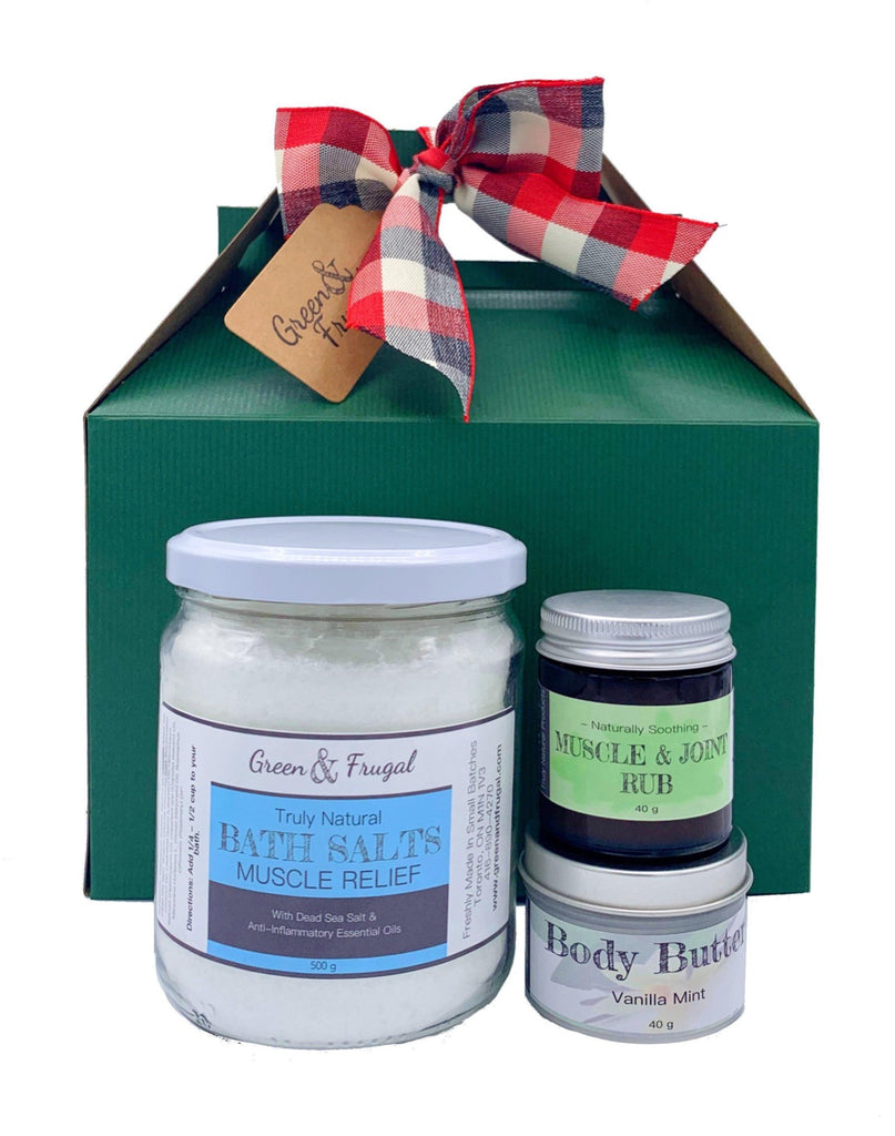 Muscle Relief Gift Set with Body Butter-Green & Frugal
