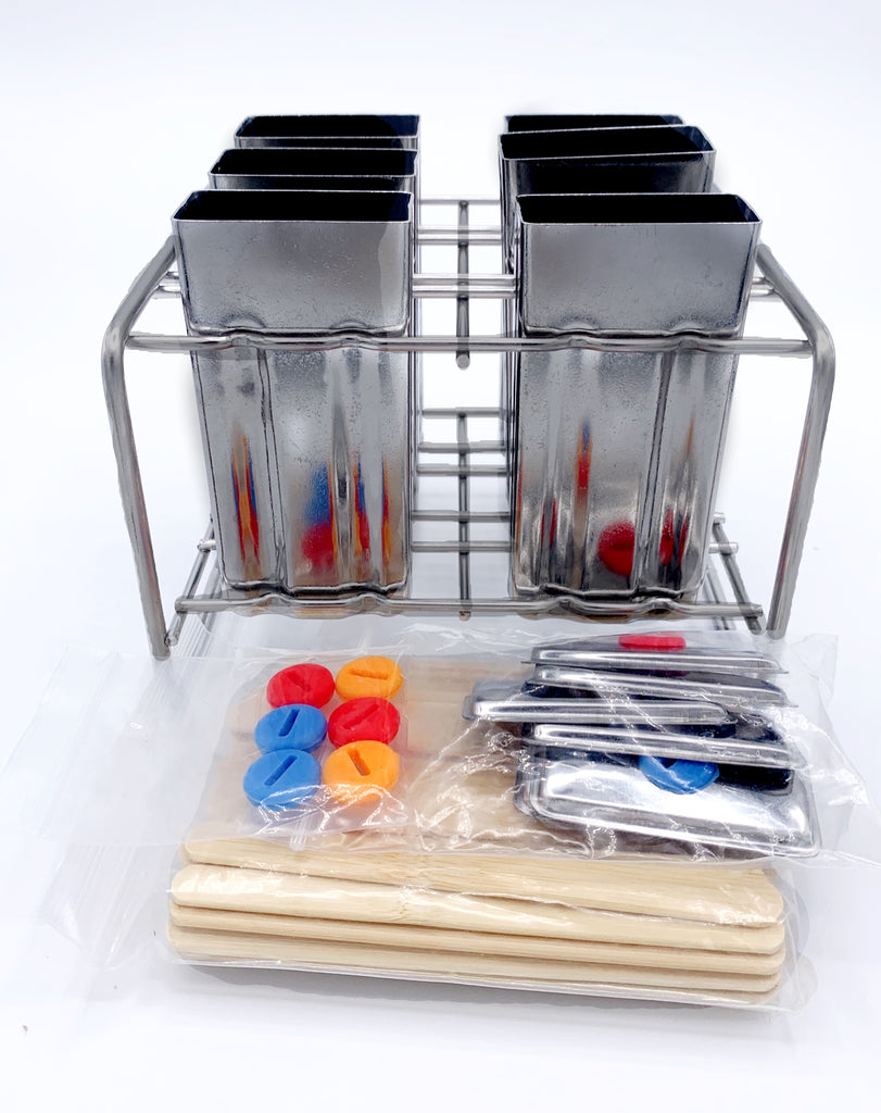 Popsicle Set, Stainless Steel