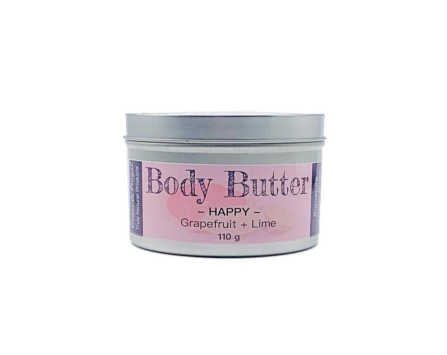 Happy Body Butter - Grapefruit + Lime-Green & Frugal