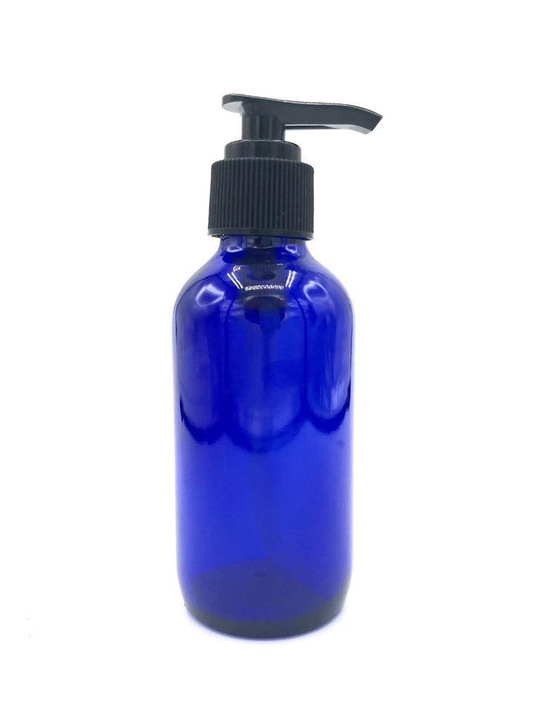 120ml Blue Cobalt Pump Bottle
