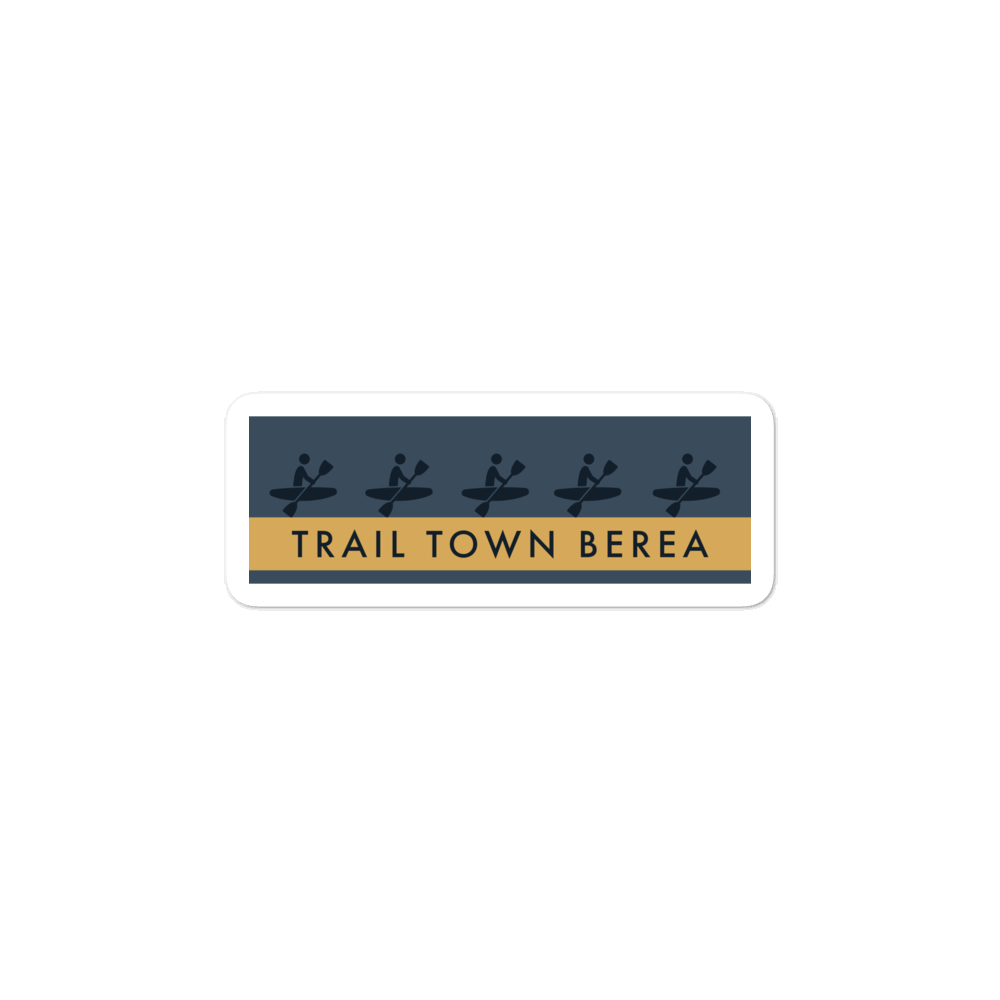 KAYAK BEREA - TRAIL TOWN BEREA COLLECTION Bubble-free stickers