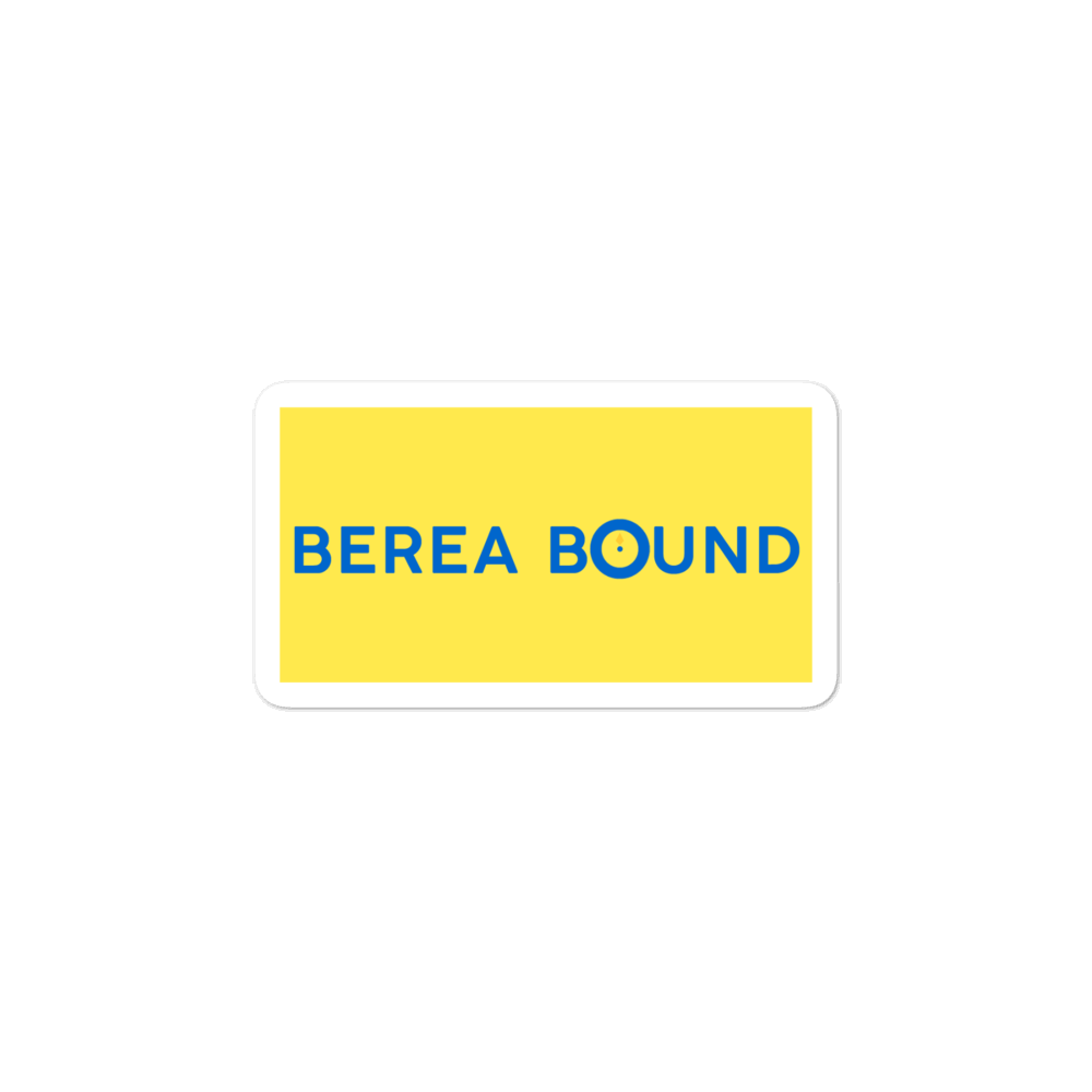 BEREA BOUND STICKER