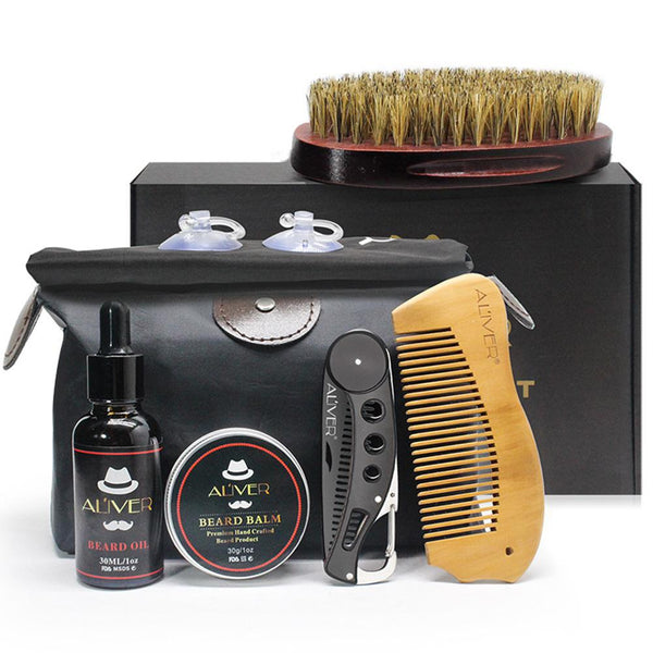 KIT COMPLET VERSION PREMIUM V2 - SOINS DE LA BARBE ET MOUSTACHE - Beard&Whisky
